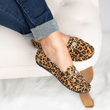 Yale Loafer Flats - Leopard