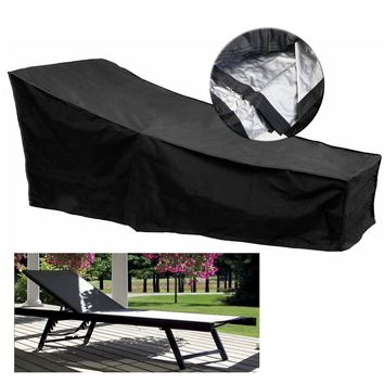 210x75x40CM Lounge Chair Furniture Chaise Waterproof Cover For Outdoor Dust Protection Patio Lawn