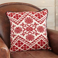 Red/White Scandi Sweater Pillows