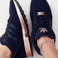 """Adidas"" ZX Flux Black Copper Rose Gold Metallic NMD"