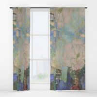 A remembrance of Redon- Purple Haze Window Curtains by anipani