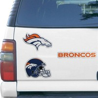 "Denver Broncos 12"" x 12"" Multi-Magnet Sheet"