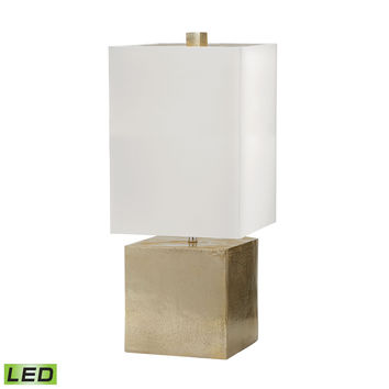 Cement Cube LED Table Lamp in Gold Gold