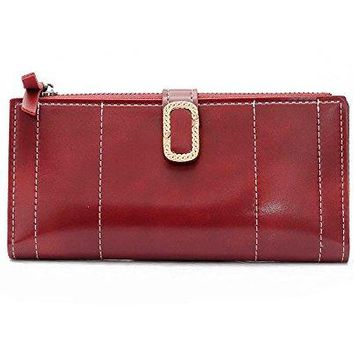 DOFE Women long Wallet Vintage PU Leather Long WalletsClutches for Women
