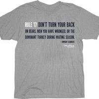 The Office Rule 17 Dwight Schrute Grey Adult T-Shirt
