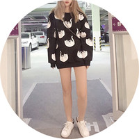 Free Shipping Despised cat cute cartoon sweater tops