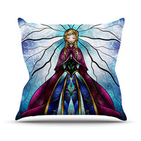 "Mandie Manzano ""The Little Sister"" Frozen Throw Pillow"