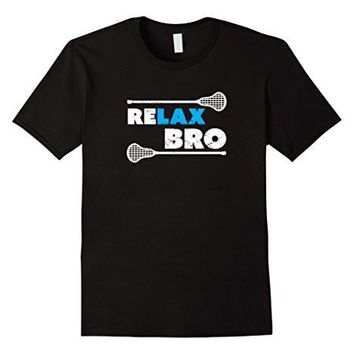 Re Lax Bro Lacrosse Player T Shirt