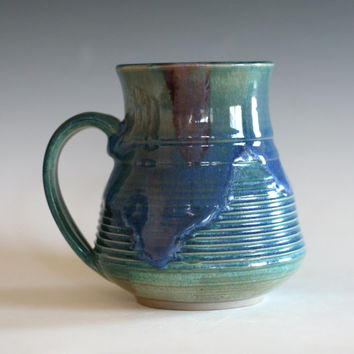 LARGE Pottery Mug, 19 oz, handmade ceramic cup, tea cup, coffee cup, handthrown ceramic stoneware pottery mug, unique coffee mug