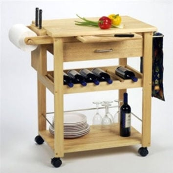 Basic Kitchen Cart with Rack