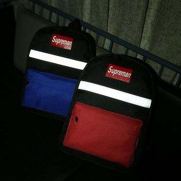 Supreme Reflective Casual Sport Laptop Bag Shoulder School Bag Backpack