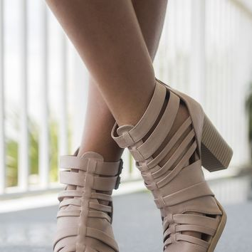 Check Yes Nude Heels