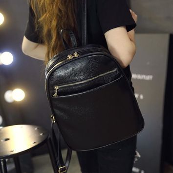 Day-First™ Soft Mini Vintage Leather Backpack Daypack School Bag