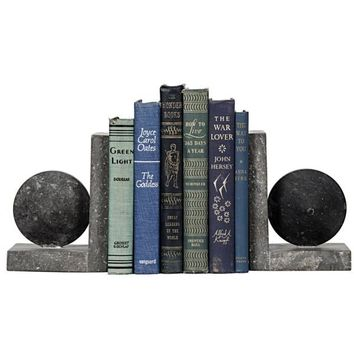 Amarion  Black Marble Bookend
