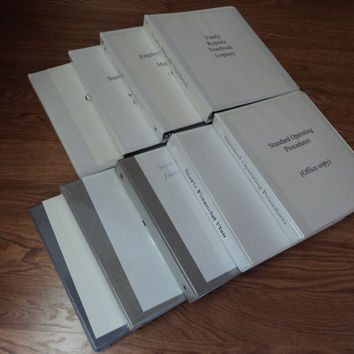 Standard 3 Ring Binders 1 1/2-inch Lot of 9 White -- Used
