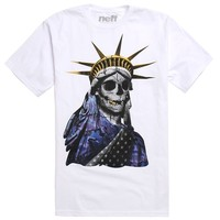 Neff Lady Liberty T-Shirt - Mens Tee - White -