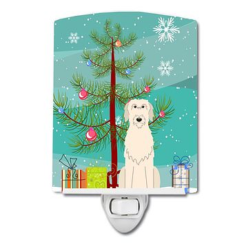 Merry Christmas Tree Irish Wolfhound Ceramic Night Light BB4190CNL