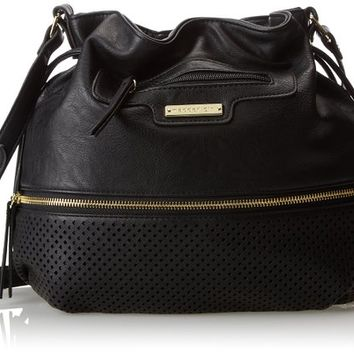 Madden Girl Daisy Cross Body Bag, Black, One Size,Black,One Size