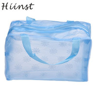 Modern Waterproof Cute PVC Toiletry Portable Makeup Cosmetic Toiletry Travel Bags Wash Toothbrush Pouch Organizer Bag