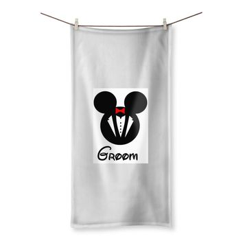 Disney theme Groom Beach Towel