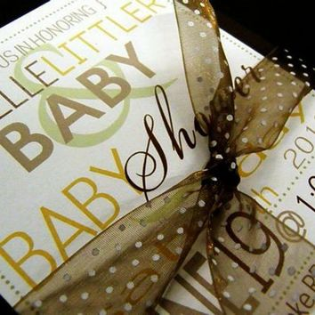 Oh Baby Baby Shower Invites Set of 20 by littletoad on Etsy