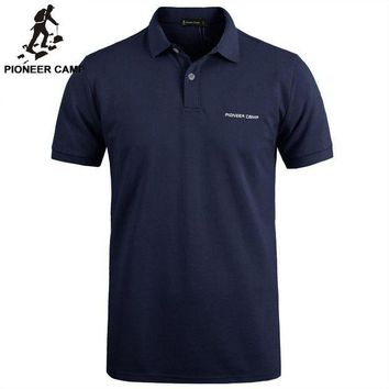 ESBON Pionner Camp Brand clothing New Men Polo Shirt Men Business & Casual solid male polo shirt Short Sleeve breathable polo shirt