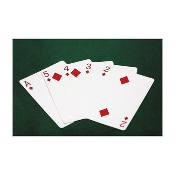 Poker Hands - Straight Flush - Diamonds Suit Canvas Print