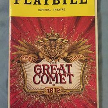 The Great Comet Playbill