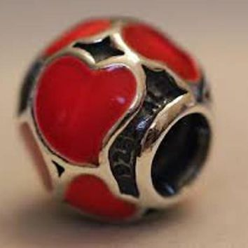 Pandora Charms, Red Hot Love Charm Bead #790436, Authentic