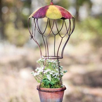 Hot Air Balloon Hanging Planter
