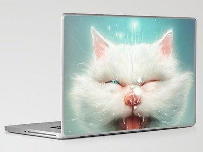 The Water Kitty Laptop & iPad Skin by Dr. Lukas Brezak | Society6