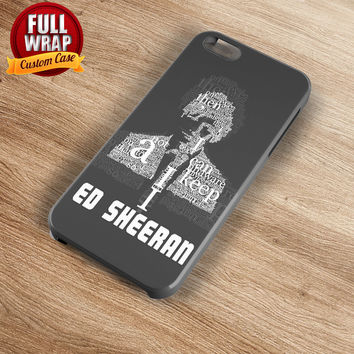 Ed Sheeran Words Silhouette Art Full Wrap Phone Case For iPhone, iPod, Samsung, Sony, HTC, Nexus, LG, and Blackberry