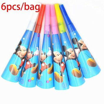 Horn Minnie Mouse Girls Kids Birthday Party Decoration Set Mickey Party Supplies Baby Birthday Party Pack event party favors
