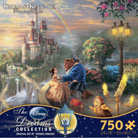 Thomas Kinkade Disney Collection - Beauty and the Beast Falling in Love Puzzle
