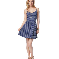 Aeropostale  Womens Striped Tank Top Dress - Blue, X-Small