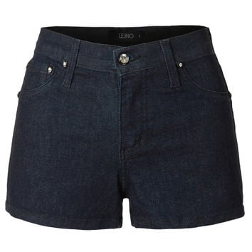 LE3NO Womens Classic Stretchy Denim Jean Shorts