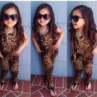 Toddler Girls Leopard Jumper