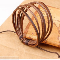 New Arrival Gift Awesome Hot Sale Great Deal Shiny Stylish Leather Strong Character Men Ring Jewelry Bracelet [6526729923]