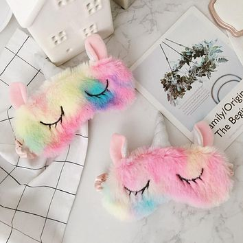 Cute Fluffy Unicorn Sleep Mask