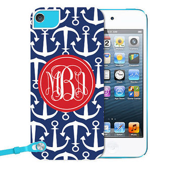 Monogrammed iPod 5 Tough Case  Personalized iPod 5 by AModernStyle