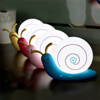 1pcs Bedside Led Night Lamp 110-220v Decoration Snail Led Wall Light Charging Lamp USB Baby Bedroom Led Night