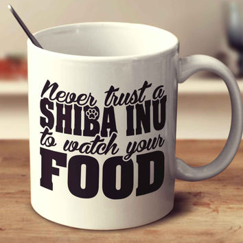 Never Trust A Shiba Inu To Watch Your Food