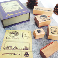 Library HEDGEHOG rubber stamp by kodomo no kao