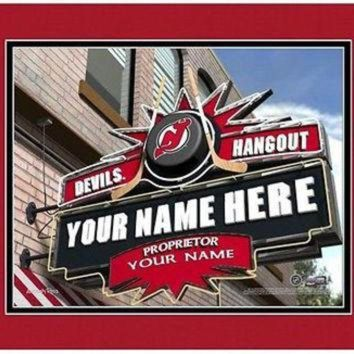 DCCK8X2 Hockey-NHL New Jersey Devils Sports Hangout Print personalized gift it