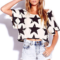 Star-Spangled Cropped Tee