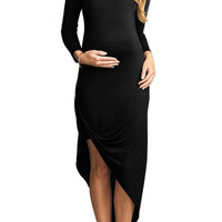 Draped Lightweight Maternity Dress