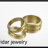 Matching Yellow Gold Wedding Band Set | Vidar Jewelry - Unique Custom Engagement And Wedding Rings