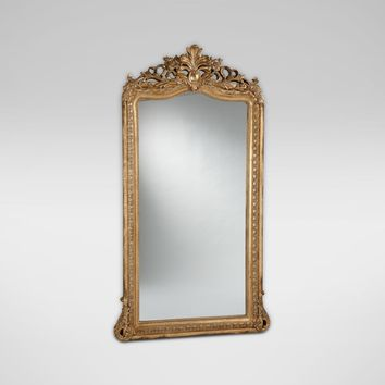 Aged Gold Luxe Floor Mirror