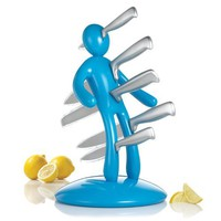 THE EX Kitchen Knife Set by Raffaele Iannello, Blue