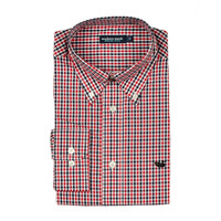 Hookbill Gingham Button Down in Red and Black by Southern Marsh
